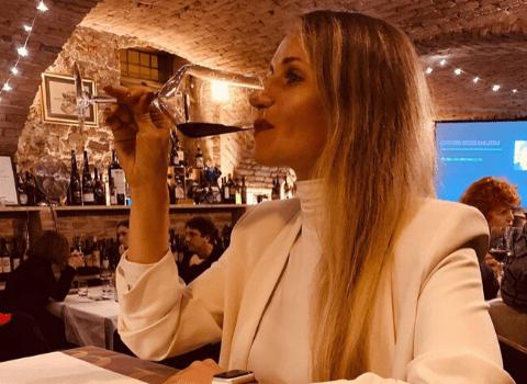 Andrea Pancur na degustaciji vino&kino