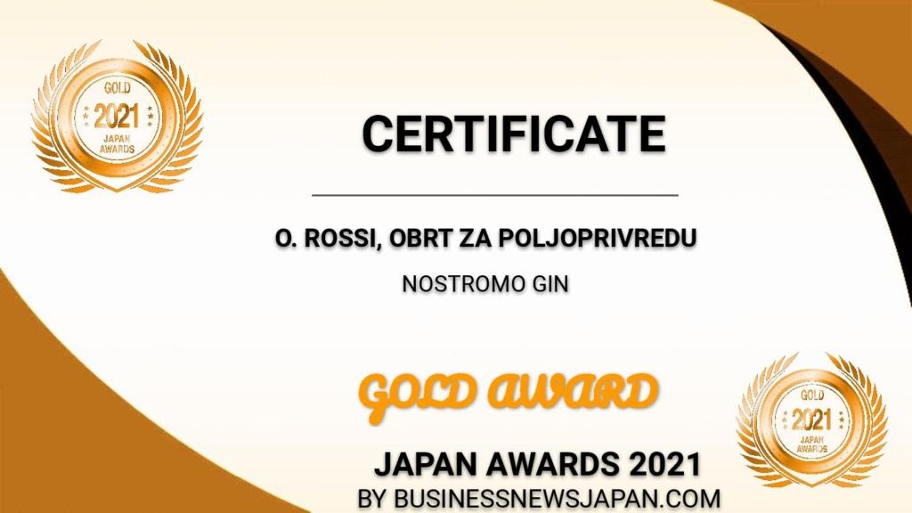 Diploma Rossi Gin Nostromo